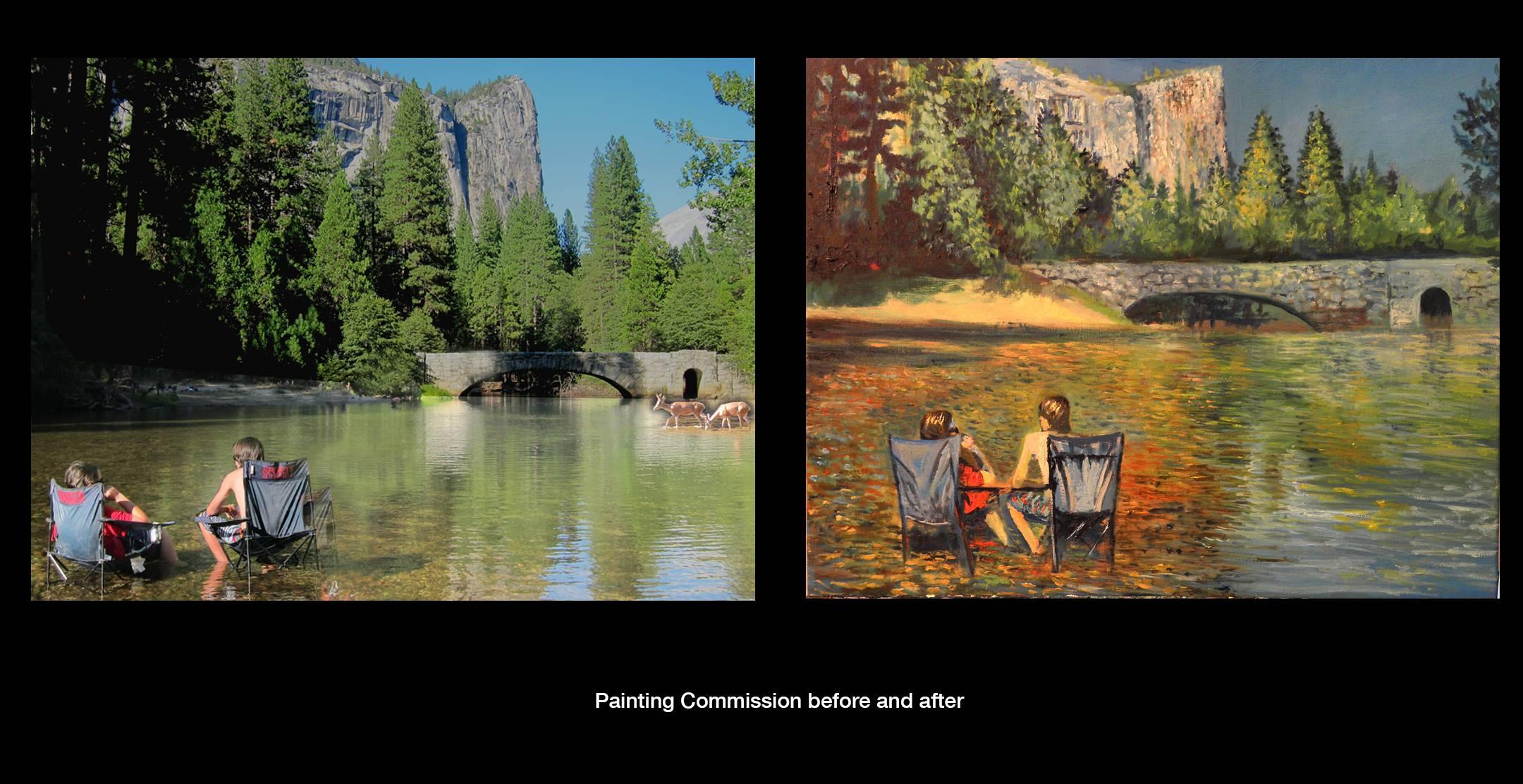 original oil on canvas commission