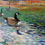 Original art on canvas_painting for sale_wildlife art_bird painting
