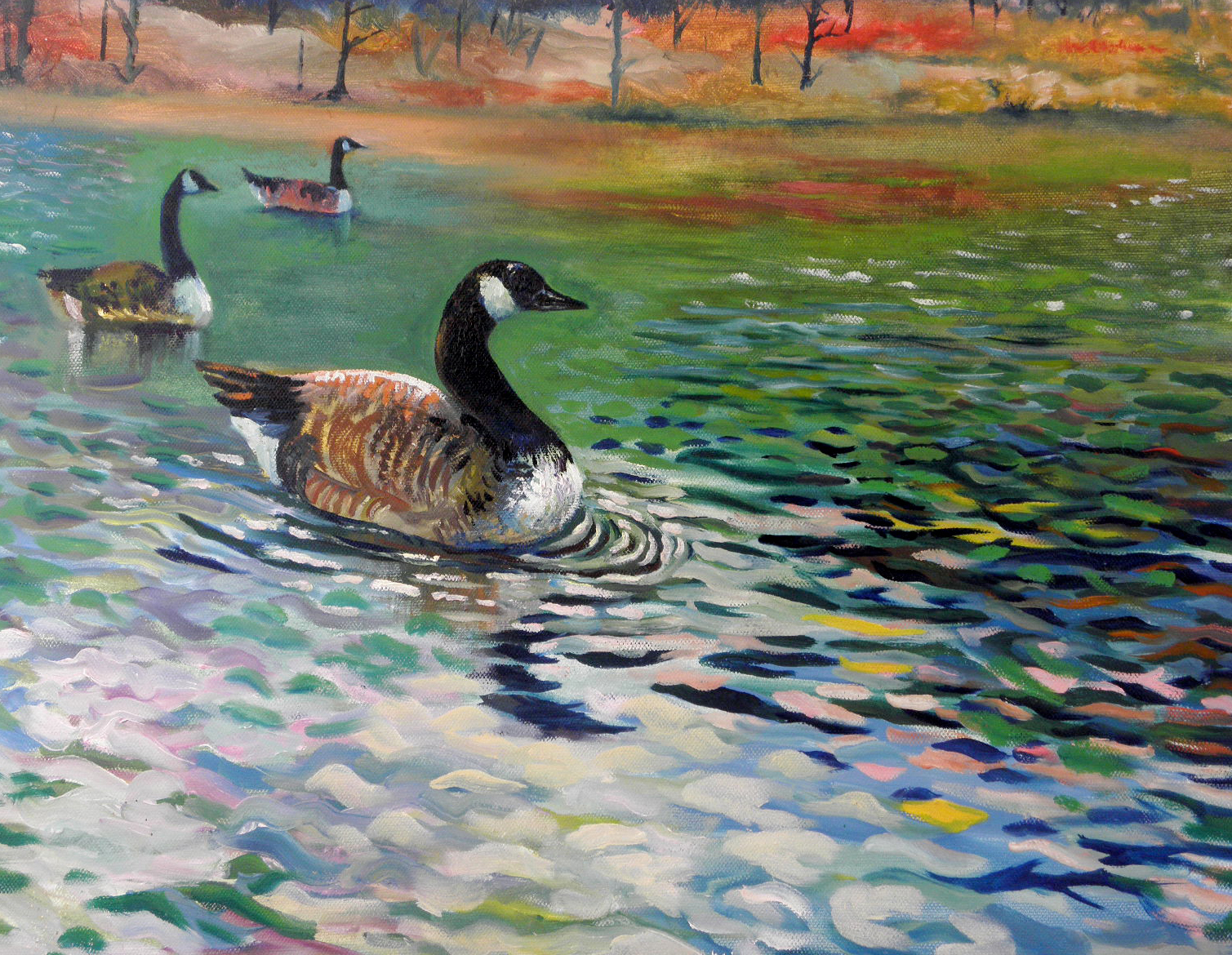 Original art on canvas_painting for sale_wildlife art_bird painting