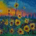 Mixed Media: Sunflowers