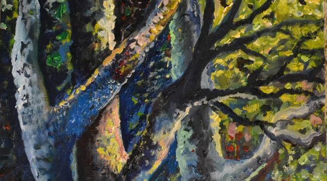 Afternoon Sun: Oil on Canvas