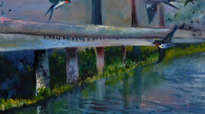 Celebration: Third in a Series of Paintings of Swallows
