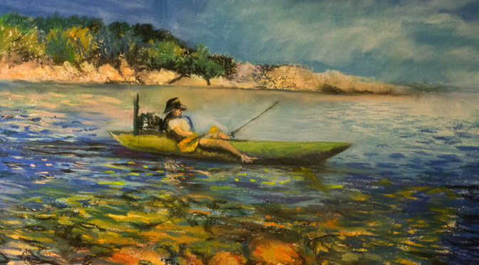 SPORTING ART: ORIGINAL OIL PAINTINGS AND PASTELS FROM A KAYAK