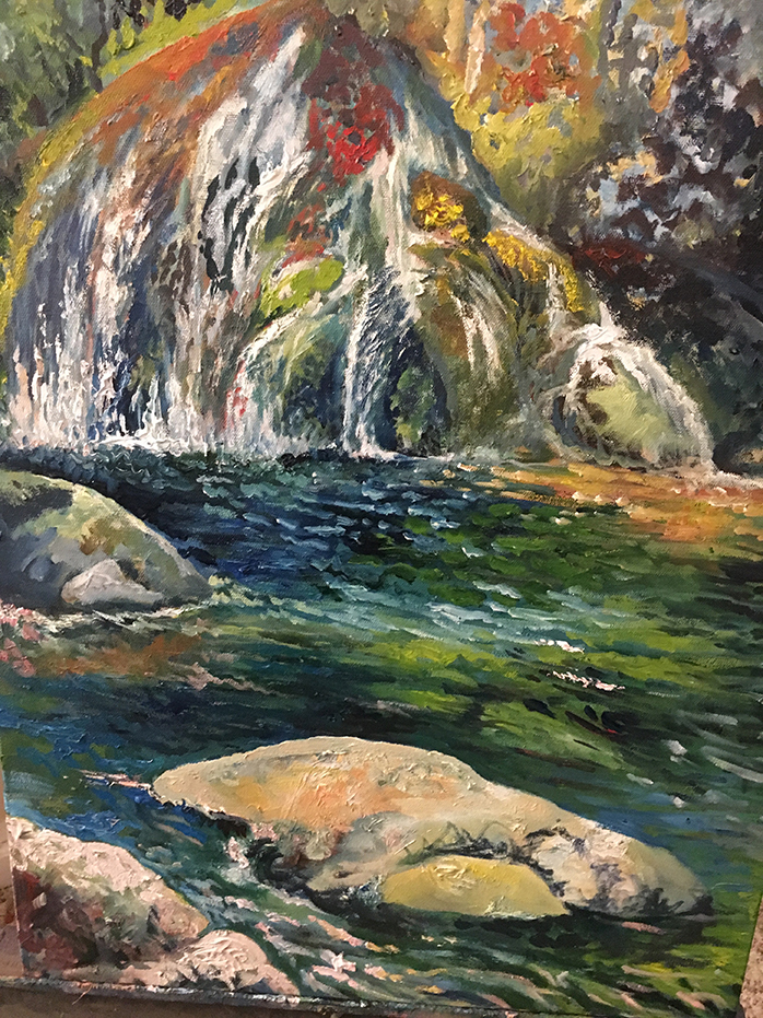 Original oil on canvas: Turner Falls, OK