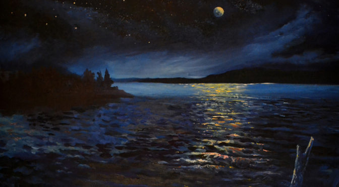 Artist Window: Back to the Canvas, Night Sky