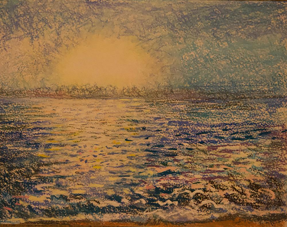 Study of Sunrise over ocean