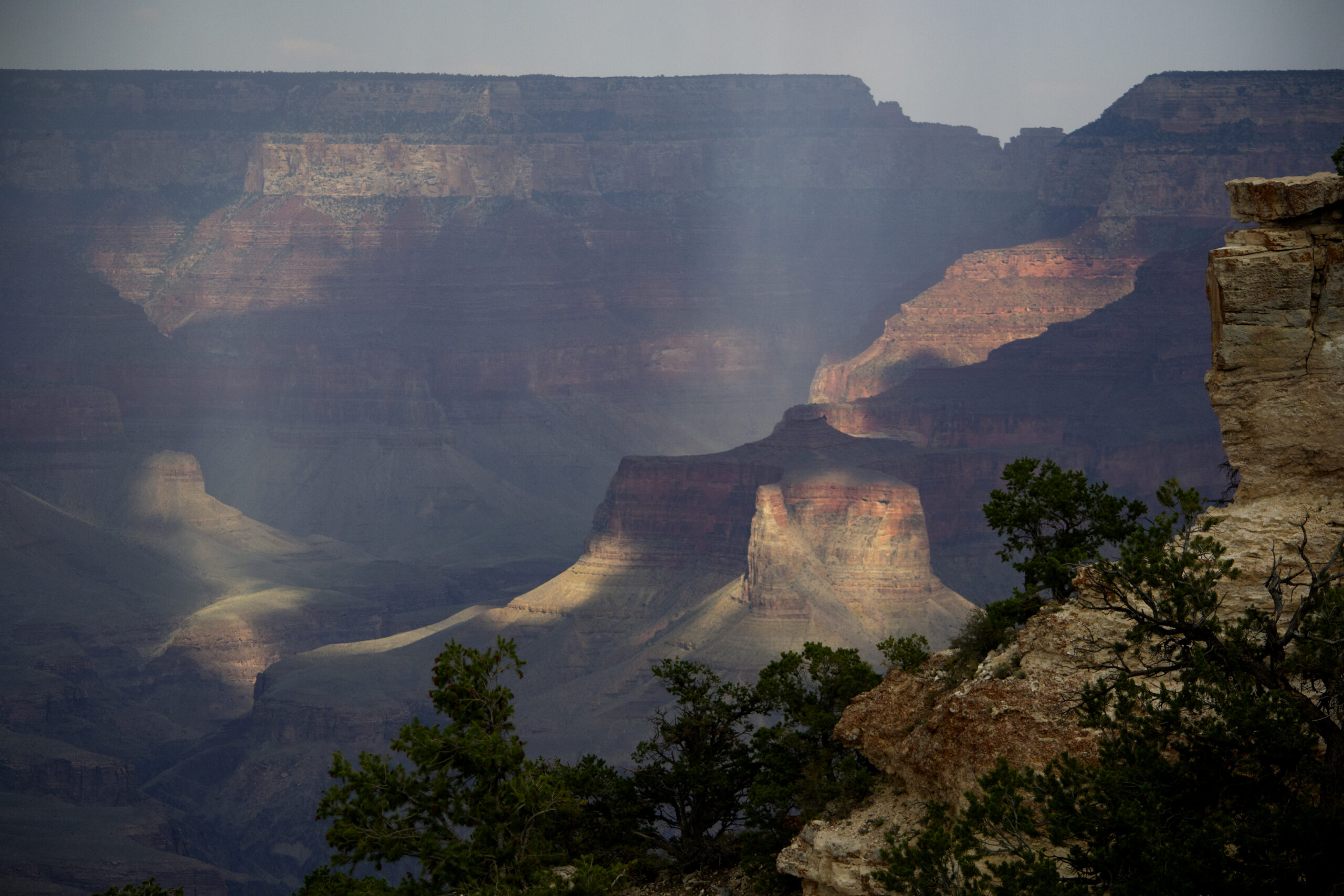 A storm in Grand Canyon